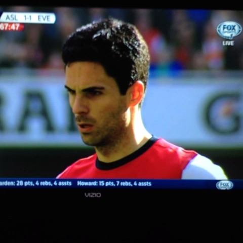 Arteta !!! #Arsenal 2-1 Everton (Retake) - Shamar Browns post on Vine