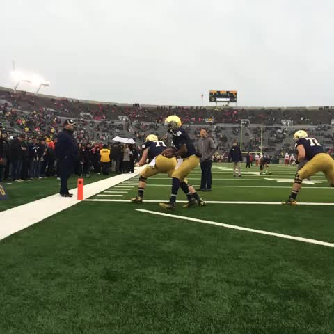 Ready to get these seniors their last W at Notre Dame Stadium #ULvsND - Notre Dame Footballs post on Vine