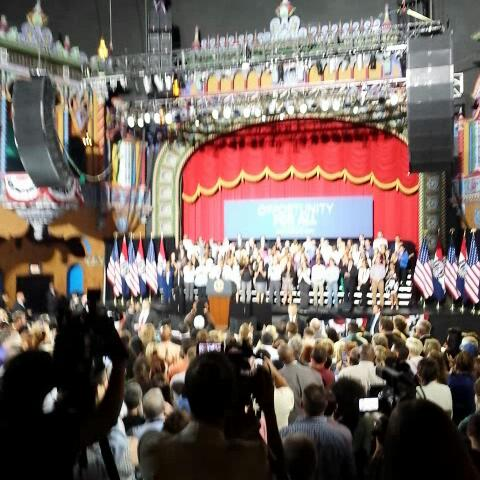 .@KansanNews Obama describes his view of the way jobs are created. #ObamainKC - jamesjhoyts post on Vine