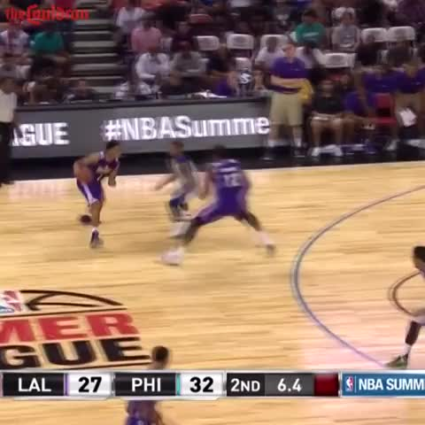 698948327 Jahlil Okafor rejects D Angelo Russell in Summer League game ...