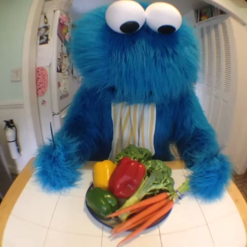 """HalBots post on Vine - Cookie Monster has been having trouble making cookies a """"sometimes food"""" (inspired by how I feel when my wife goes on a health kick) - HalBots post on Vine"""