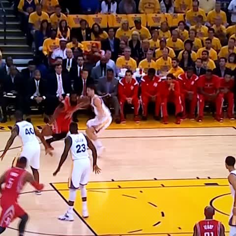 """Watch ClutchFans's Vine """"Harden fouled by Klay Thompson but not getting the calls so far tonight."""""""