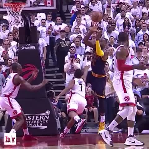 Vine by Bleacher Report - LeBron couldnt handle The North