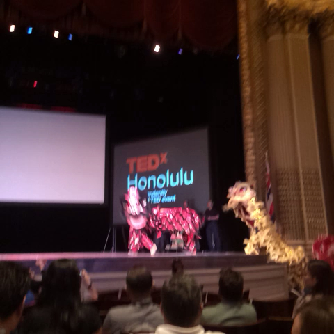 #TEDXHNL kicking off here in Honolulu with Au's Shaolin Art Society Lion Dance #china