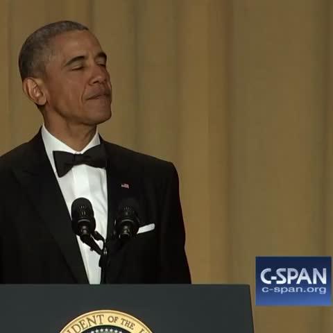 "Vine by C-SPAN - .@POTUS: ""Obama out."" #WHCD #WHCD2016 #nerdprom"