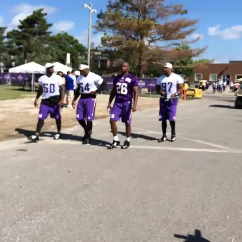 Adrian Petetson takes the field for Day 1 of #VikingsCamp - KARE 11s post on Vine