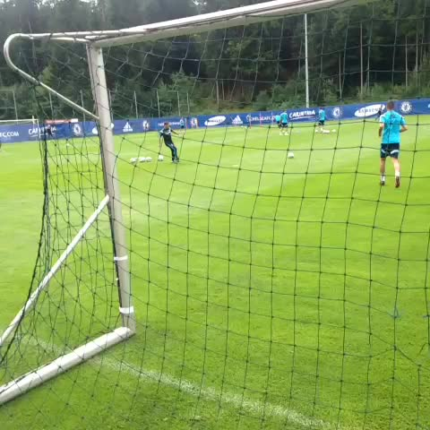 Chelsea FCs post on Vine - Petr Cech saves from Gary Cahill in training. - Chelsea FCs post on Vine