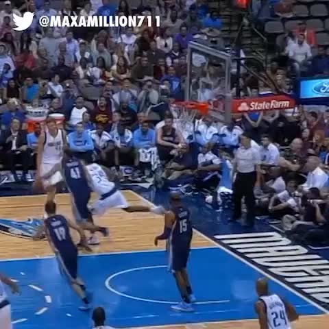 MaxaMillion711s post on Vine - Vince Carter denies Dirk Nowitzki - MaxaMillion711s post on Vine