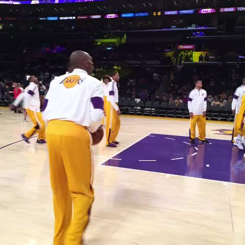 Getting close to tip-off. - Lakerss post on Vine