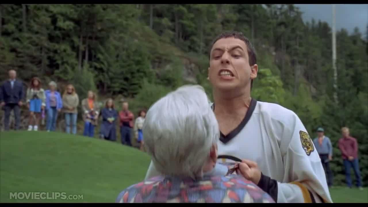 """... Bitch"""" #EDBTZ #ulsc LOL Laughs #happygilmore Adam Sandler #adamsandler Adam Sandler"""