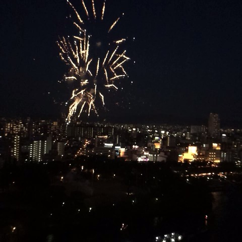 Maia Shibutanis post on Vine - Fireworks in Osaka! #天神祭 #THEICE2014 💥 - Maia Shibutanis post on Vine