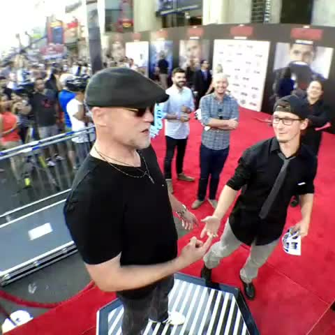 Vine by Ant-Man - Live from Marvels #AntMan premiere with @michael_rooker!