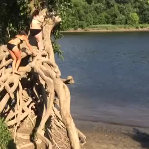 Danny Ramseys post on Vine - Fat girl falls off rope swing - Danny Ramseys post on Vine