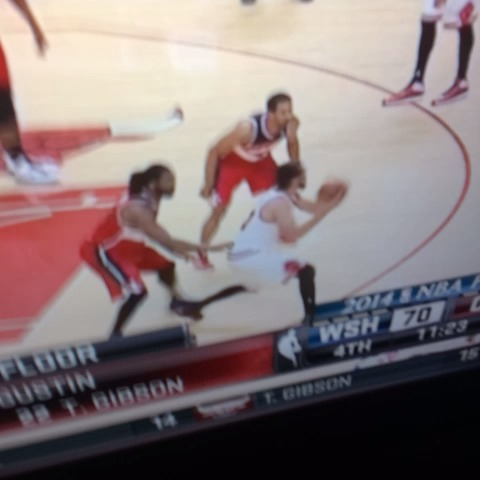 Dude moved his pivot foot 5 times and refs call foul on wizards #playoffs - Daddys post on Vine
