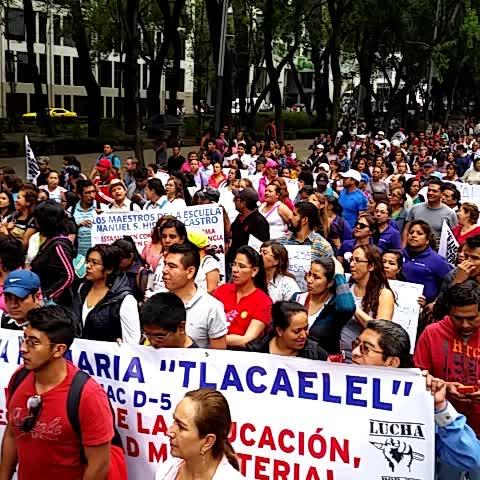 Vine by Coordinadora1DMX - Masiva presencia de escuelas de CDMX se cae control sindical.en CDMX si hayUnidad días contados d ReformaEduc