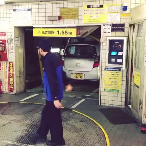 JinnyBoys post on Vine - Malaysia has double parking, Japan has next level parking - JinnyBoys post on Vine