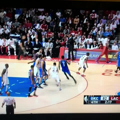 Great playcall by Scott Brooks here: Elevator screen frees Ibaka for huge three - Anthony Slaters post on Vine