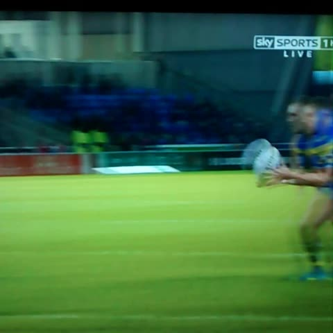 Vine by JDNalton - Gene Ormsby try for Warrington v Salford. #rugbyleague