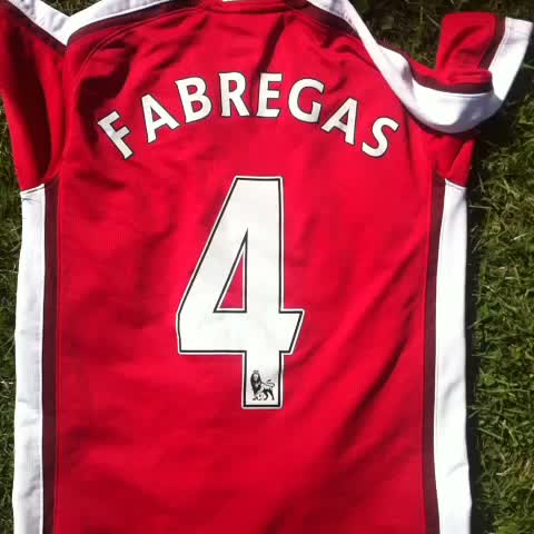 detailed look 260ff cce35 Arsenal and Barcelona fans burn their Cesc Fabregas shirts ...
