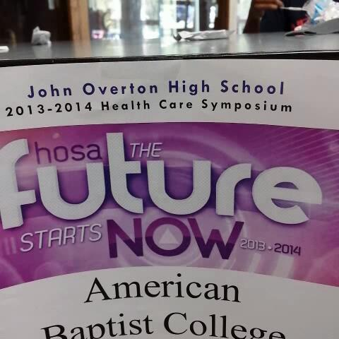 Adam Taylors post on Vine - JOHS Health Care Symposium at @OvertonMNPS - @MetroSchools - Adam Taylors post on Vine