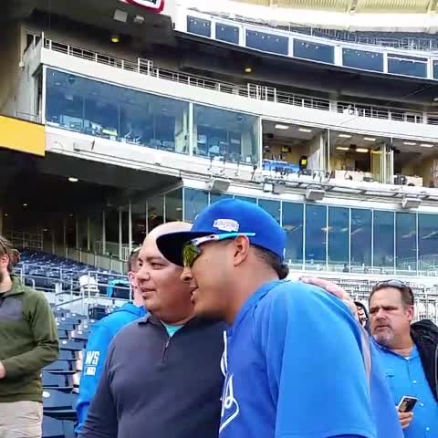 Salvy takes pics with fans before Game 2 of the World Series. NBD. - MLBs post on Vine