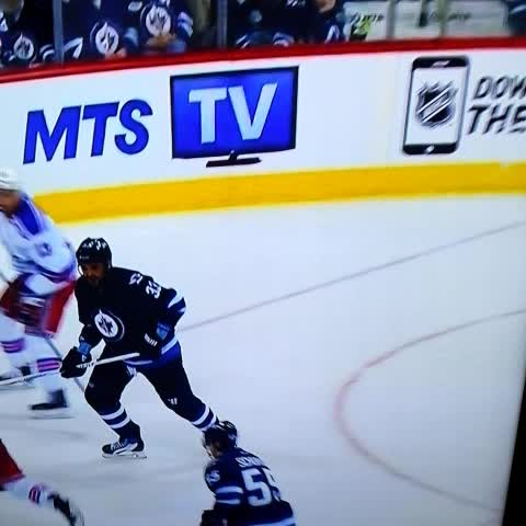 Vine by Eric - Dustin Byfuglien tries to decapitate JT Miller. #NYR #Jets #NHL