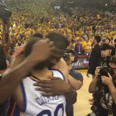 Vine by NBA - Steph & KD embrace after an incredible Western Conference Finals series! #ThisIsWhyWePlay