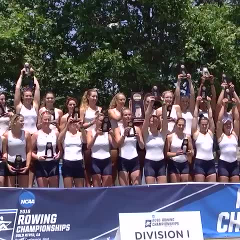 Vine by VirginiaSportsTV - BACK ON THE PODIUM: UVA rowing finishes the season back on the podium with trophies held high!