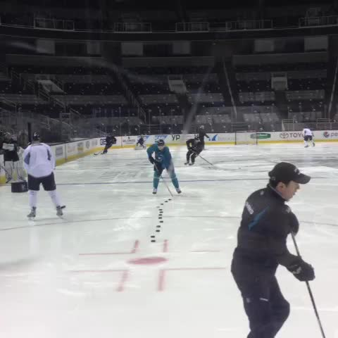 San Jose Sharkss post on Vine - Puck drills - San Jose Sharkss post on Vine