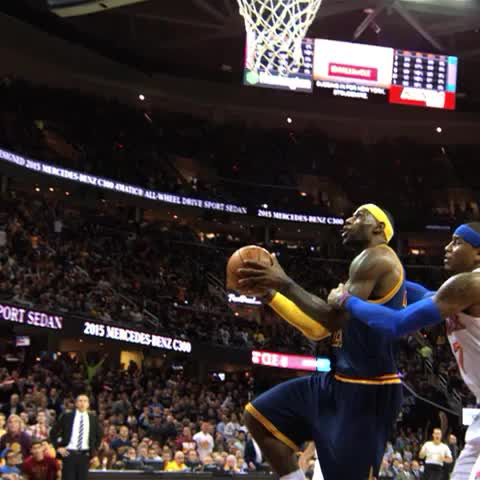 NBAs post on Vine - LeBron scores his first bucket of the season for the @Cavs! @NBAonTNT #phantomcam - NBAs post on Vine