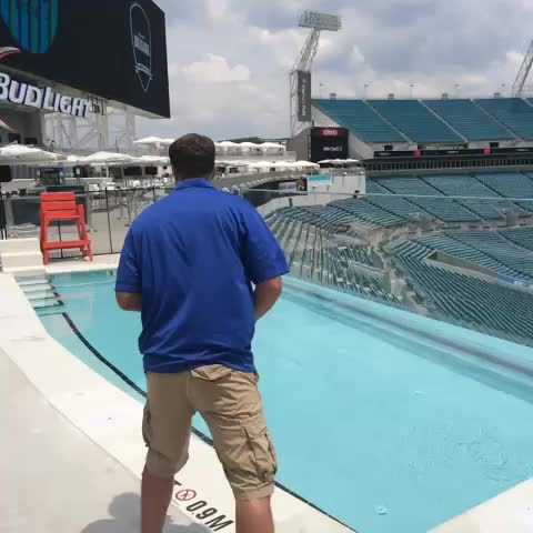 Khanonball! NFL Networks Daniel Jeremiah goes in the water after #JagsCamp! - Jacksonville Jaguarss post on Vine