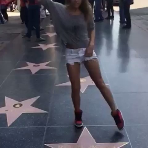 Amymarie Gaertner s post on Vine - Cant visit Michael Jacksons star any other way🎶 #dance - Amymarie Gaertner s post on Vine