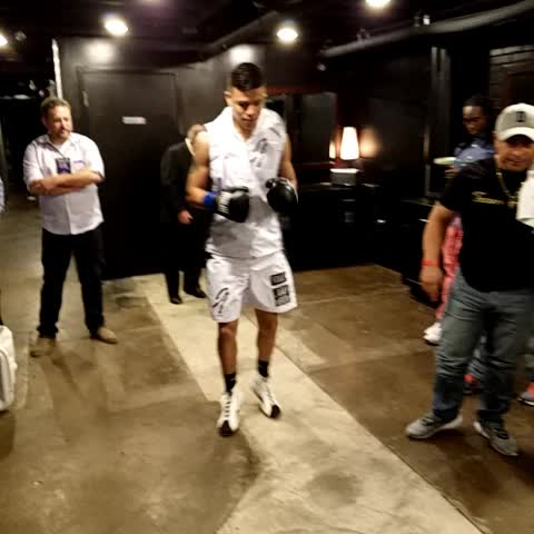 Vine by Top Rank Boxing - Were moving right along here at the @bombfactorydfw! Next: @joeyalday!
