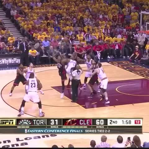 Vine by LeBron James ✅ - Kevin Love with the full court touchdown pass to King James! ???? #Cavs #Raptors #ECF #Allin216!