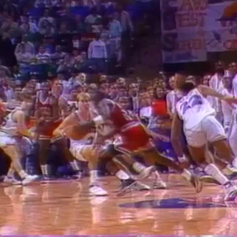 Vine by The NBA on ESPN - Michael Jordan hitting The Shot over Craig Ehlo is No.1 in #NBArank Best Playoff Vines.