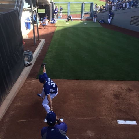 In the bullpen with Clayton Kershaw: - Dodgerss post on Vine