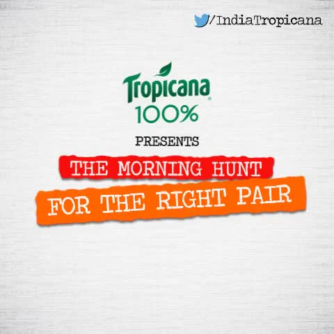 Tropicana Indias post on Vine - Have you #SkippedBreakfastBecause you could not find the right pair of socks together? - Tropicana Indias post on Vine