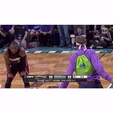 Vine by Bleacher Report - You shouldnt have done that, Purple Shirt Man.