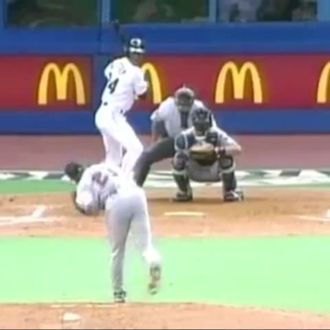 Vine by Seattle Mariners - #OTD in 1993, Junior homered in his eighth straight game—and Ron Fairly nailed the call. #TBT