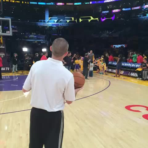 Out on the floor. #GoLakers - Lakerss post on Vine