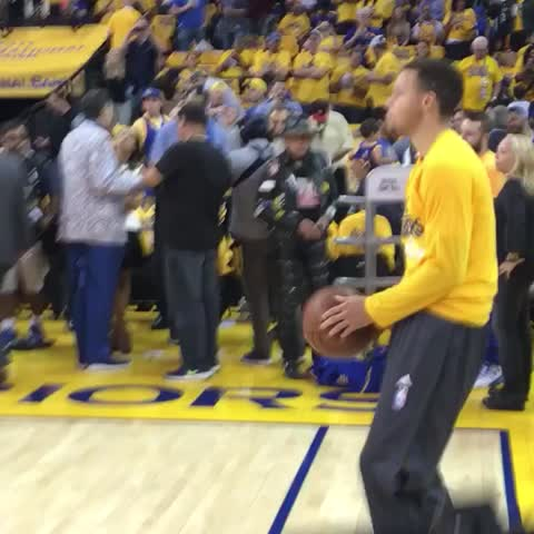 Vine by NBA - The #KiaMVP feeling loose pregame looking for a @warriors win in Game 5 on TNT! #NBAVine