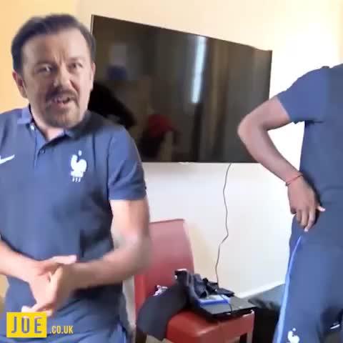 Vine by JOE.co.uk - Paul Pogba teaching David Brent a new dance... #BrentsBack Ricky Gervais