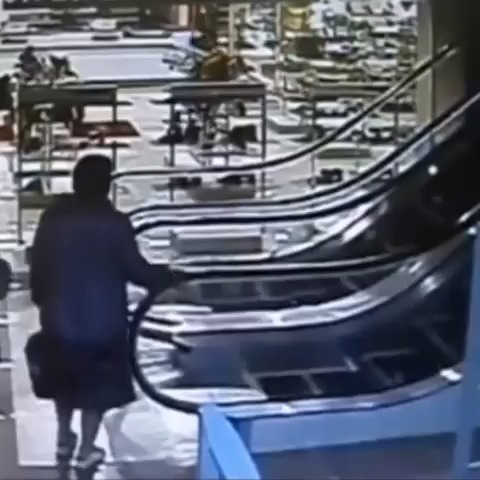 WEIRD Vidzs post on Vine - Old lady rides escalator #somo - WEIRD Vidzs post on Vine