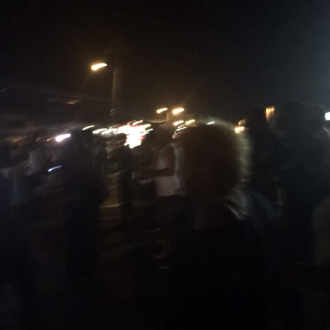 These people had mostly been marching and chanting. Now gathered in tense group in parking lots - Wesley Lowerys post on Vine