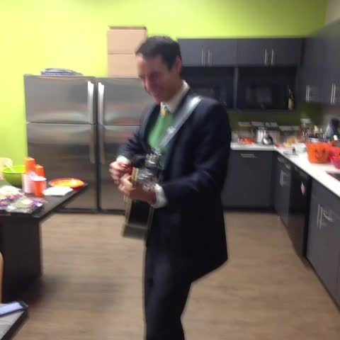 Zach Labrecques post on Vine - Andy Bernard performing some song Stanley could probably do without. - Zach Labrecques post on Vine
