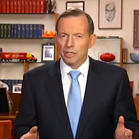 """ABC Newss post on Vine - """"Its not a state, its a death cult"""", Tony Abbott says of the Islamic State. - ABC Newss post on Vine"""