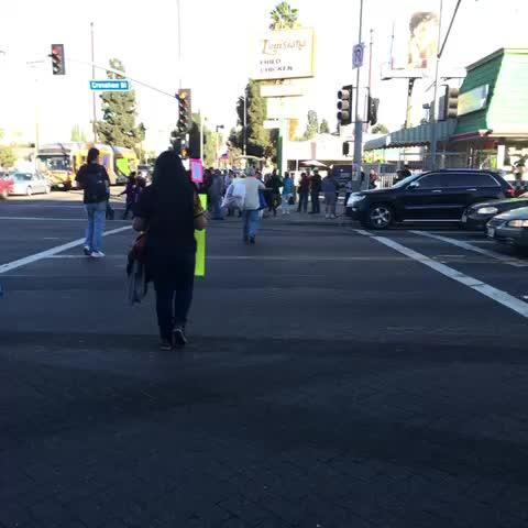 Protest at Crenshaw/MLK. #Ferguson #MikeBrown @knx1070 - Claudia Peschiuttas post on Vine
