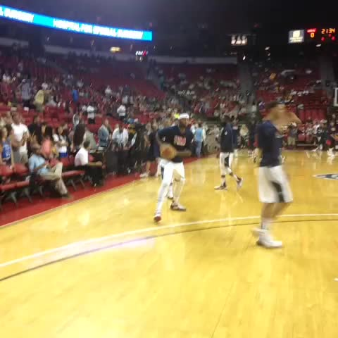15-minutes until tip-off, DMC warming up for #USABMNT exhibition! - Sacramento Kingss post on Vine