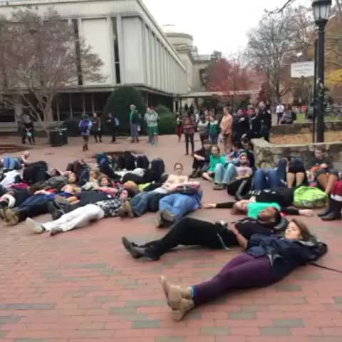 "Angelica Alvarez ABC11s post on Vine - #UNC students staging a ""die-in"" taking a stand in #FergusonDecision - Angelica Alvarez ABC11s post on Vine"