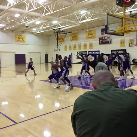 Mike Trudells post on Vine - And a Kobe baseline fadeaway. Swish. He looks like ... well ... Kobe. Age cant do much to that move. - Mike Trudells post on Vine